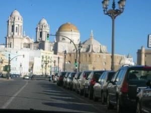 Catedral de Cádiz desde el Campo del Sur
