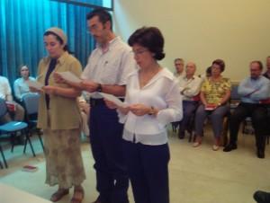 Primera Consagración Signum Fidei de Marina, María Dolores y Antonio año 2.004