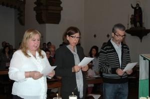 primera Consagración de Loli Muñoz, Pepi Mesías y Renovación Consagración de Antonio 30 Nov. 2.013