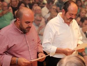 D. Manuel Jesús Bravo y D. Juan Antonio Chaves realizan su primer compromiso a la Misión Lasaliana